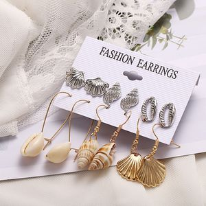 Fashion Conch Shell Drop Earrings Pearl Starfish Leaves Scallops for Sale in Tustin, CA