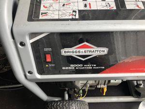 Briggs and Stratton portable 5000 watt Generator for Sale in Bellevue, WA