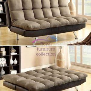 Brown Microfiber Sofa Bed Futon for Sale in Huntington Park, CA