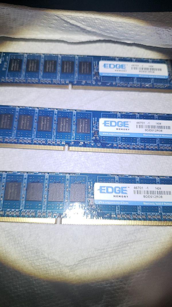 8GB DDR3 EDGE MEMORY RAM STICKS