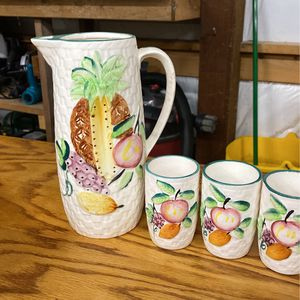 Vintage Pitcher And Cups for Sale in Granite Falls, WA