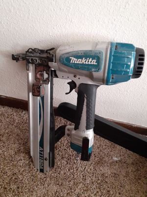 Makita nail gun works good welcome 2 put it to the test b4 u buy for Sale in West Linn, OR