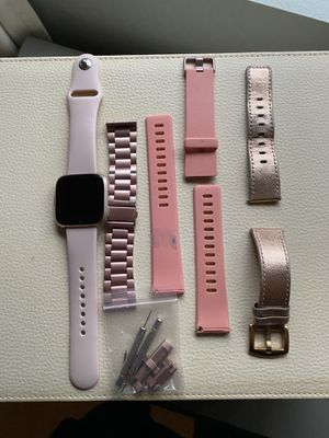 Fitbit Versa, charger, + bands for Sale in Maple Valley, WA