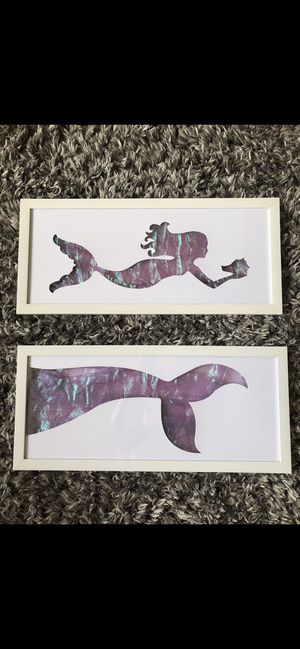 Mermaid picture frame for Sale in Orlando, FL