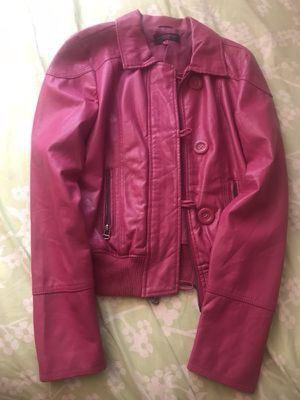 Hot pink faux leather jacket for Sale in Alexandria, VA