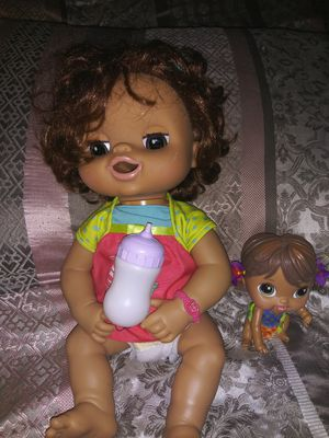 (1)Working Baby Alive With Bottle (1)Crib Life Baby Alive BOTH $15 for Sale in Eagle Lake, FL