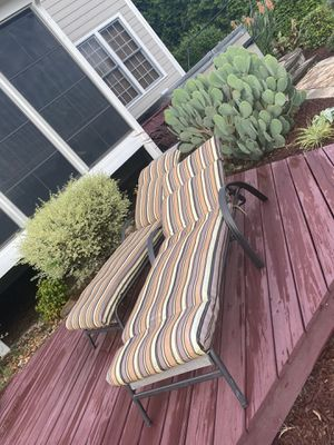 Outdoor recliners with cushions for Sale in Raleigh, NC