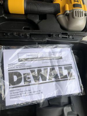 Dewalt 16 gauge nail gun finisher for Sale in Tustin, CA