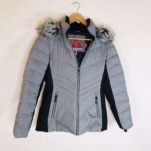 Gerry Gray Black Faux Fur Puffer Jacket Size Small for Sale in El Cajon, CA