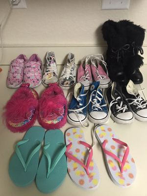 Girls shoes sizes 9 - 11 some are brand new for Sale in Rancho Cucamonga, CA
