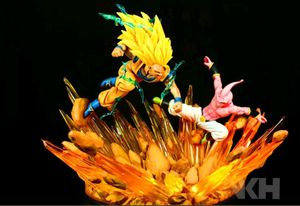VKH Goku Vs. Buu Dragonball Z Statue diorama Authenticated Polystone Light Ups for Sale in Austin, TX