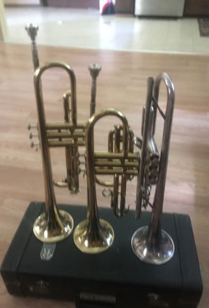 Trumpets 90$ each - come with case. for Sale in Powder Springs, GA