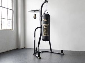 Everlast Dual Punching Bag with stand and 80lb new bag for Sale in Houston, TX