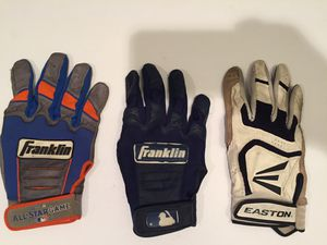 3 Batting Gloves - Baseball Softball - M XL XXL for Sale in Naperville, IL