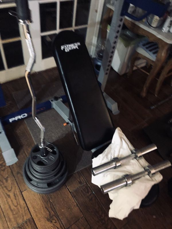 full home gym weight set up