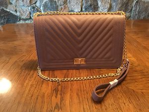 Blush Crossbody Purse with Gold Chain Strap for Sale in Flat Rock, MI