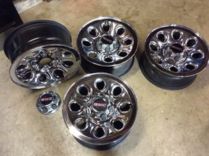 4 - OE Rims/Wheels For GMC or Chevy 1500. 6 Lug Pattern for Sale in Fullerton, CA