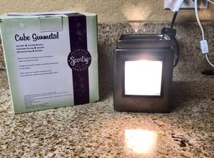 Scentsy Warmer Cube Gunmetal Plus Frame. for Sale in Rancho Cucamonga, CA
