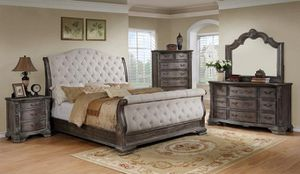 Sheffield Antique Gray Sleigh Bedroooggm Set [FREE CHEST] for Sale in Baltimore, MD