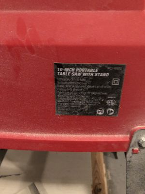 10 in hyper tough portable table saw for Sale in New Bern, NC