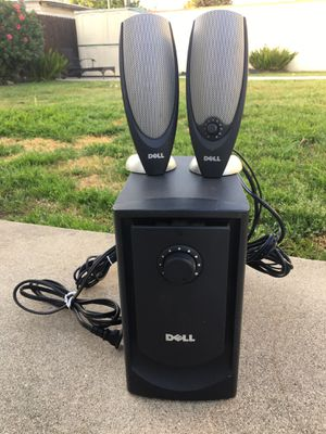 DELL Computer Speakers & Bass- Complete with all cables- Great for Gaming! Very Good Condition! for Sale in West Covina, CA