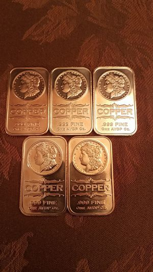 (5) Bundled Copper 1 Ounce Bars for Sale in Washington, DC
