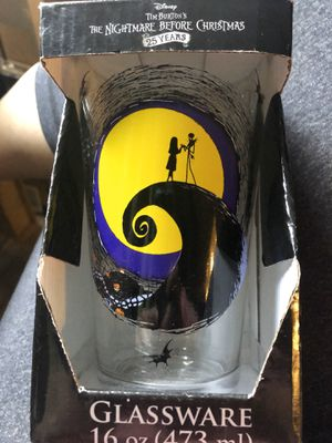The nightmare before Christmas 25th anniversary pint glass for Sale in Lake Forest, CA