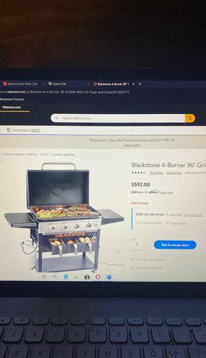 Black stone 4 burner griddle for Sale in Hiram, GA