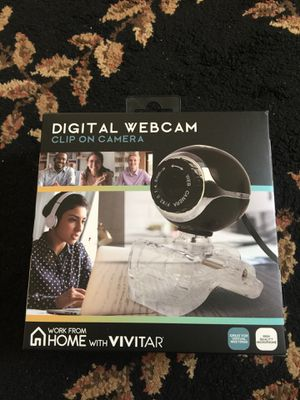 Digital Webcam Clip On Camera Work From Home with Vivitar Brand New Never Open Never Use Sealed for Sale in Folsom, CA