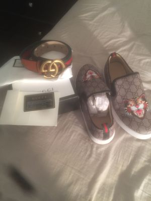 Shoes and belt Gucci for Sale in Newport News, VA