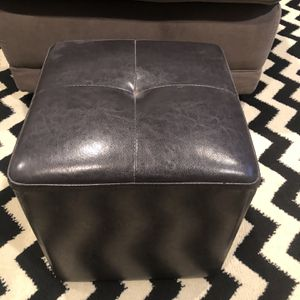 Brown Small Faux Leather Pouf / Game Chair for Sale in Denver, CO