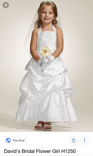 David's Bridals style #H1250 flower girl dress size 2T for Sale in Edgewood, MD