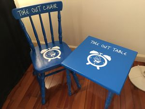 Kids time out table and chair for Sale in East Windsor, NJ