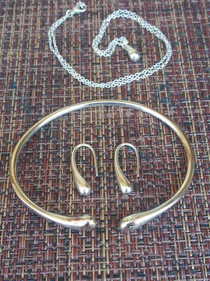 Silver Necklace,earrings,& bangle for Sale in San Antonio, TX