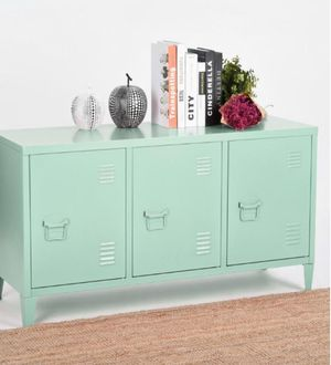 Matapouri 3-Doors Green Metal Accent Cabinet TV Stand With Storage DESCRIPTION for Sale in Houston, TX