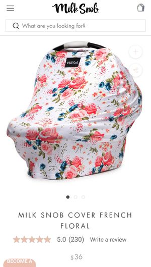 Car seat cover / nursing cover for Sale in Kansas City, MO
