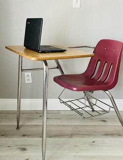 School Student Desk And Chair Combo With Book Rack By Virco for Sale in West Covina,  CA