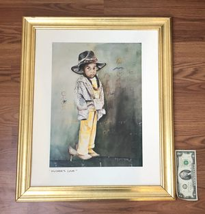Framed print - kid in parent's clothes for Sale in Silver Spring, MD