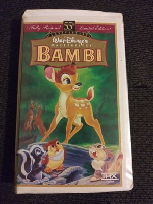 Bambi 55th anniversary vhs for Sale in Bellflower, CA