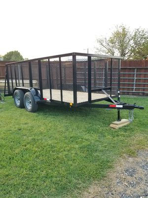 """14'x76"""" Brakes, Gate, Bulldog Hitch, 8 Ply Tires and Expandedmetal Sides 4' (Traila) for Sale in Wylie, TX"""