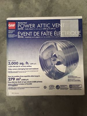 Master Flow EGV6 3000sqft Power Attic Vent for Sale in Winter Garden, FL