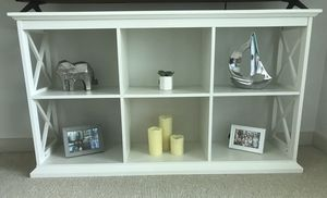Belham Living Hampton TV Stand Bookcase- White for Sale in Atlanta, GA