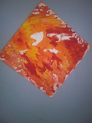 Acrylic Hand Painted Local Abstract Red 🔥 Art 18/300 for Sale in Orlando, FL