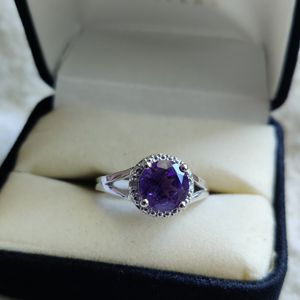 Amethyst & Diamond Silver Ring for Sale in Phoenix, AZ