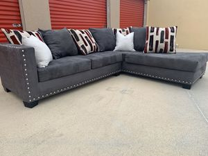 sectional couch sofa with nailhead for Sale in Burleson, TX