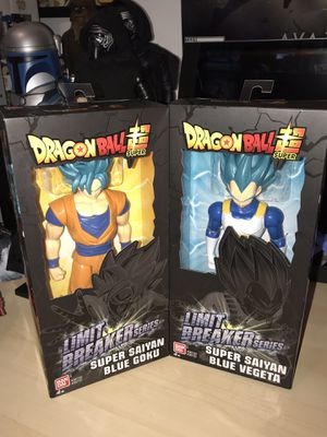 New in the box Dragonball Z Super saiyan Figures blue Vegeta and Blue Goku $20for one $40 for both. for Sale in Oak Park, IL