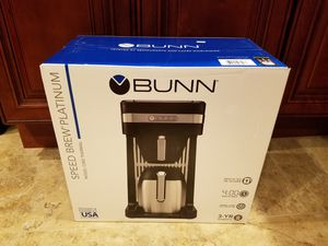 BUNN Speed Brew Platinum Thermal Coffee Maker, Model CSB3T for Sale in Garland, TX
