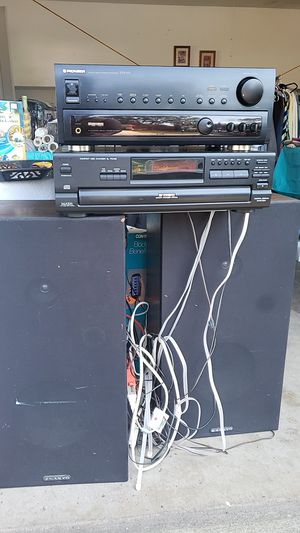 Pioneer receiver and Panasonic 5 disc cd changer and sanyo speakers for Sale in Garfield Heights, OH