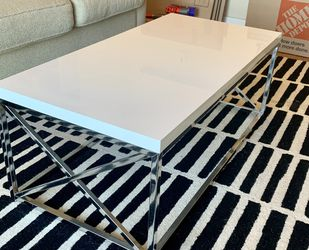 White And Silver Coffee Table for Sale in Austin,  TX