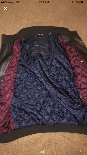Tommy hilfigure leather jacket for Sale in Show Low, AZ